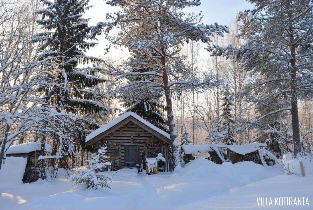 Talvisia lapsuudenkodin maisemia Pohjois-Savosta