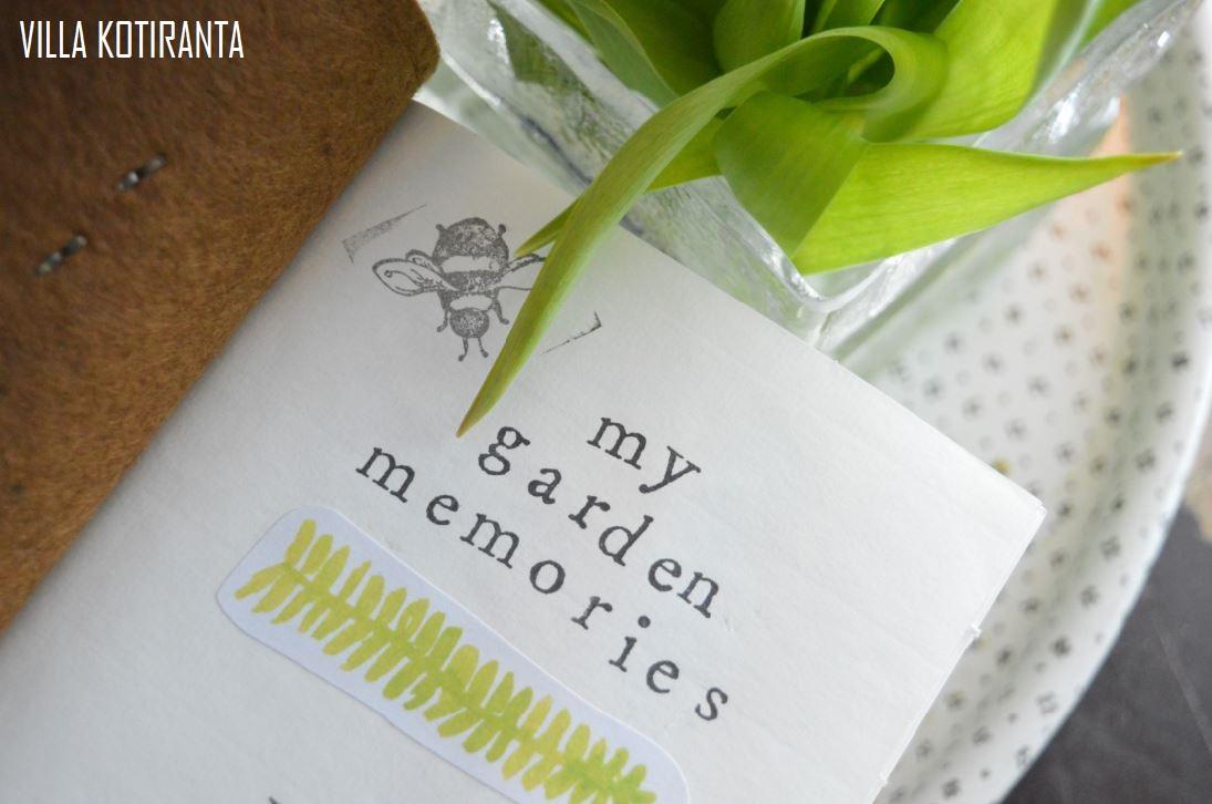 Puutarhapäiväkirja ja ajatuksia tulevaan puutarhavuoteen