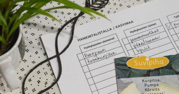 HERÄILYÄ TULEVAAN PUUTARHAVUOTEEN [#OMAVARAISUUS, OSA 1/2021]